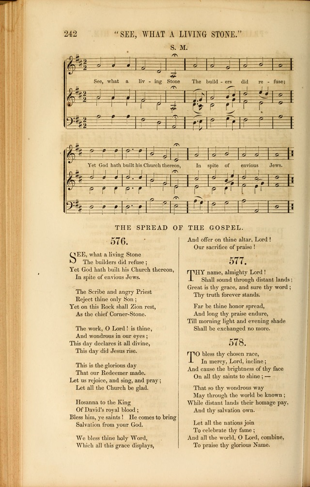 Church Pastorals, hymns and tunes for public and social worship page 242