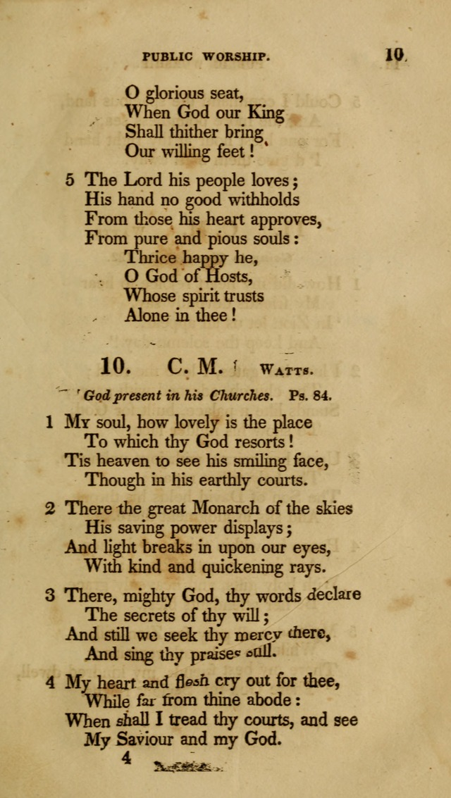 A Collection of Psalms and Hymns for Christian Worship (6th ed.) page 9