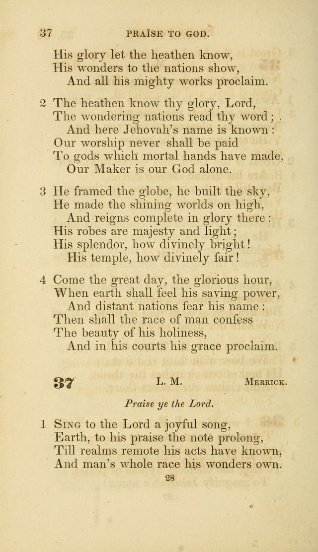 A Collection of Psalms and Hymns: from Watts, Doddridge, and others (4th ed. with an appendix) page 50