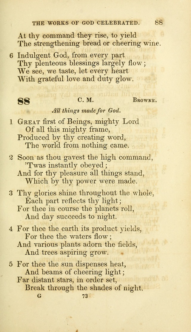 A Collection of Psalms and Hymns: from Watts, Doddridge, and others (4th ed. with an appendix) page 95