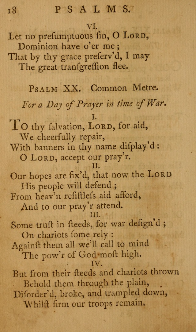 A Collection of Psalms and Hymns for Publick Worship page 18