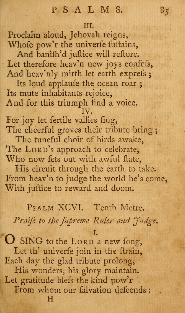 A Collection of Psalms and Hymns for Publick Worship page 85