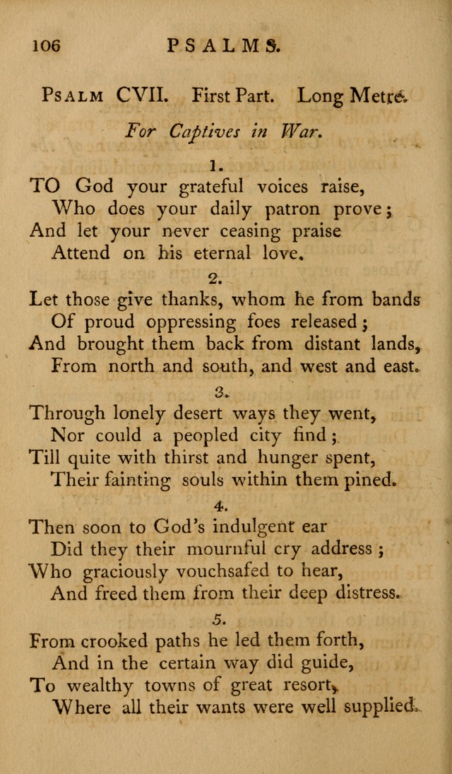 A Collection of Psalms and Hymns for Publick Worship (2nd ed.) page 106