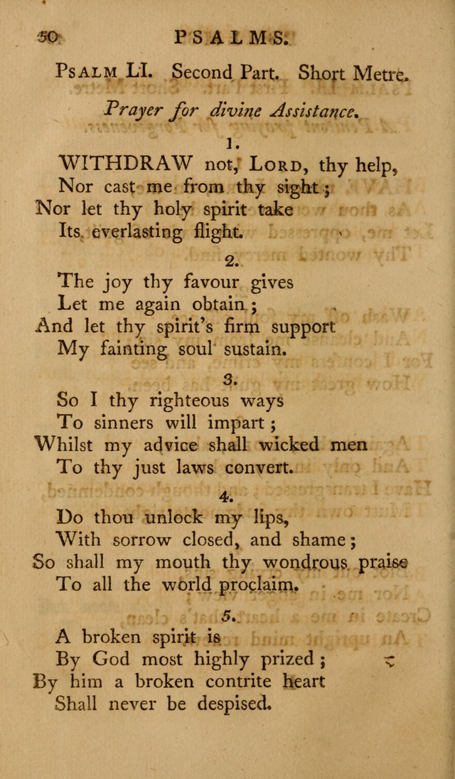 A Collection of Psalms and Hymns for Publick Worship (2nd ed.) page 50