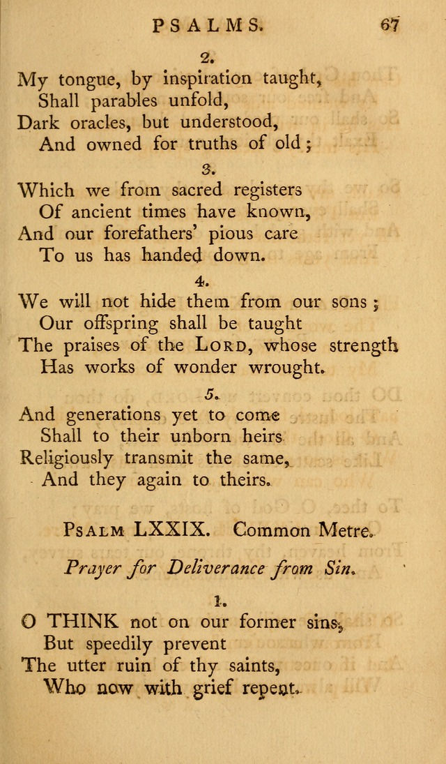A Collection of Psalms and Hymns for Publick Worship (2nd ed.) page 67