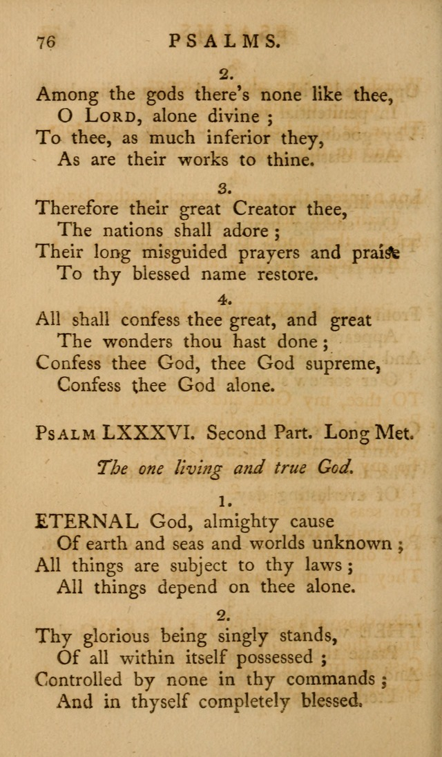 A Collection of Psalms and Hymns for Publick Worship (2nd ed.) page 76