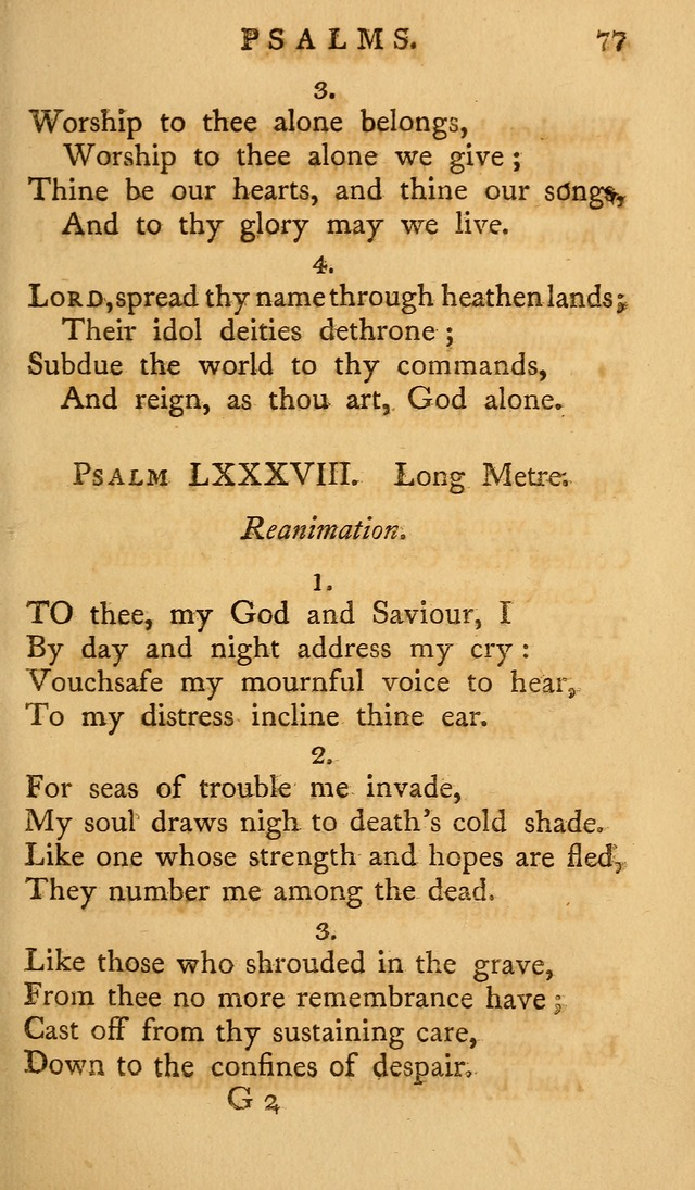A Collection of Psalms and Hymns for Publick Worship (2nd ed.) page 77