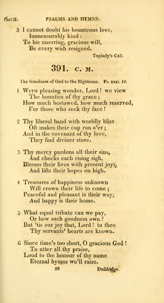 A Collection of Psalms and Hymns, for Social and Private Worship page 308