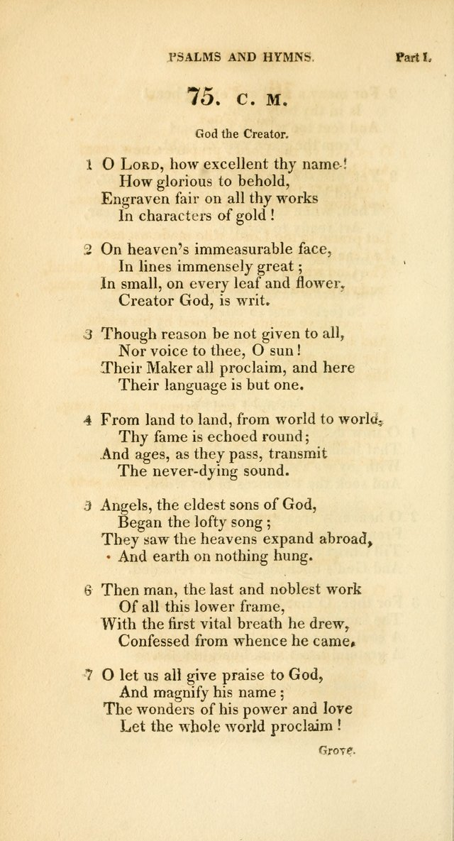 A Collection of Psalms and Hymns, for Social and Private Worship page 73