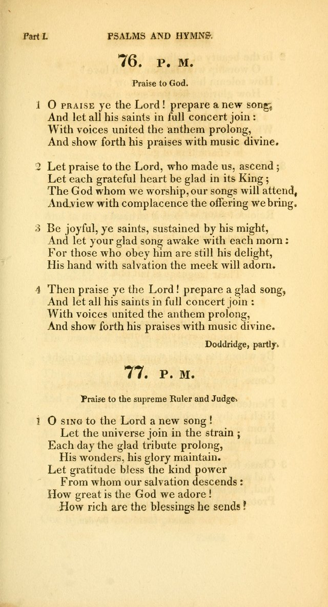 A Collection of Psalms and Hymns, for Social and Private Worship page 74