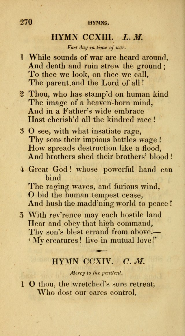 A Collection of Psalms and Hymns for Social and Private Worship page 270