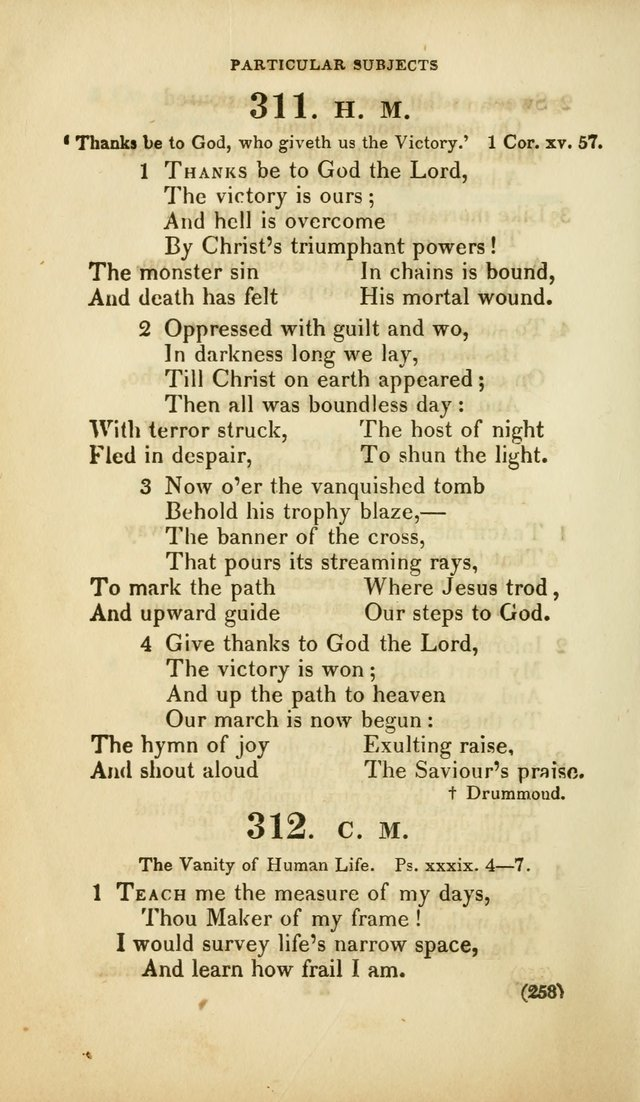 A Collection of Psalms and Hymns, for Social and Private Worship (Rev. ed.  with supplement) page 259