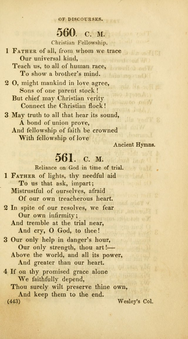 A Collection of Psalms and Hymns, for Social and Private Worship (Rev. ed.  with supplement) page 444
