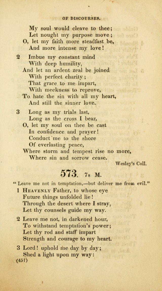 A Collection of Psalms and Hymns, for Social and Private Worship (Rev. ed.  with supplement) page 452