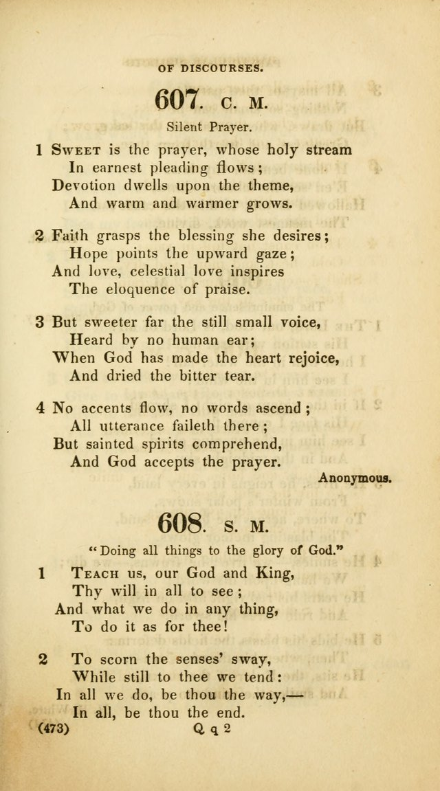 A Collection of Psalms and Hymns, for Social and Private Worship (Rev. ed.  with supplement) page 474