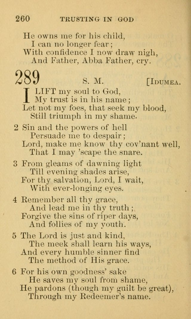 A Collection of Psalms and Hymns: suited to the various occasions of public worship and private devotion page 260
