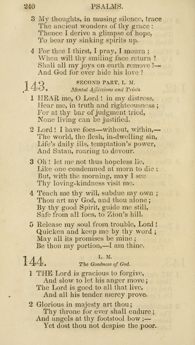 Church Psalmist: or psalms and hymns for the public, social and private use of evangelical Christians (5th ed.) page 242