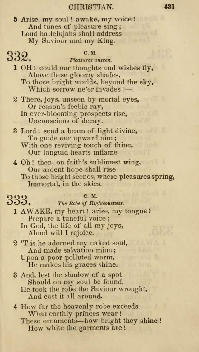 Church Psalmist: or psalms and hymns for the public, social and private use of evangelical Christians (5th ed.) page 433