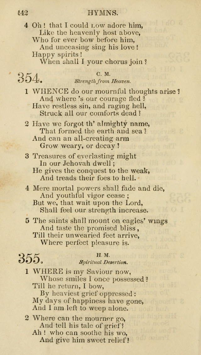 Church Psalmist: or psalms and hymns for the public, social and private use of evangelical Christians (5th ed.) page 444