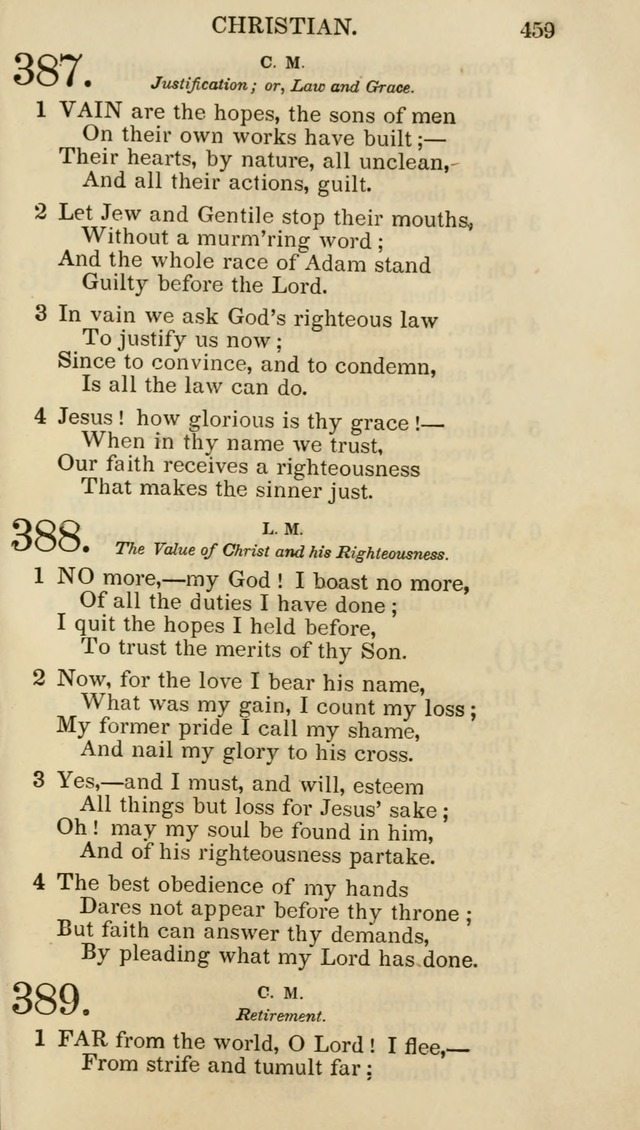 Church Psalmist: or psalms and hymns for the public, social and private use of evangelical Christians (5th ed.) page 461