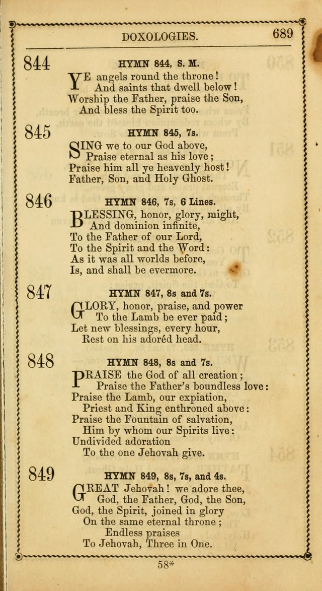 Church Psalmist: or, psalms and hymns, for the public, social and private use of Evangelical Christians. With Supplement. (50th ed.) page 688