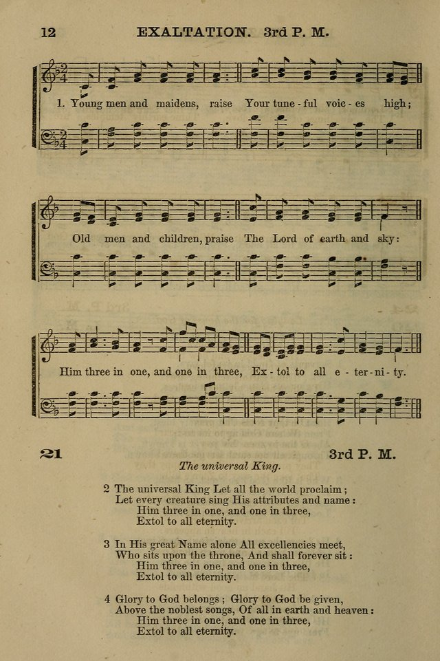 The Centenary Singer: a collection of hymns and tunes popular during the last one hundred years page 12