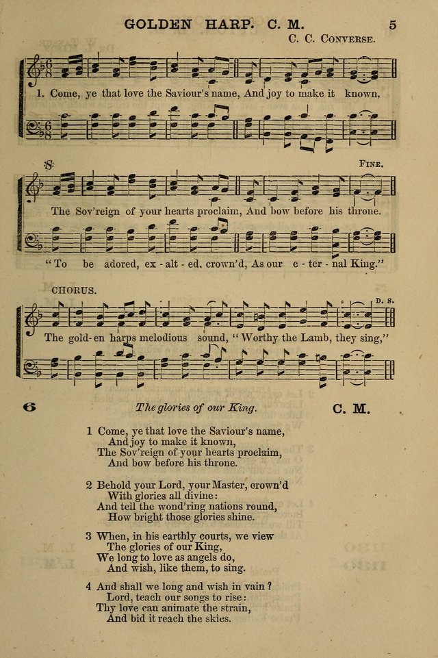 The Centenary Singer: a collection of hymns and tunes popular during the last one hundred years page 5