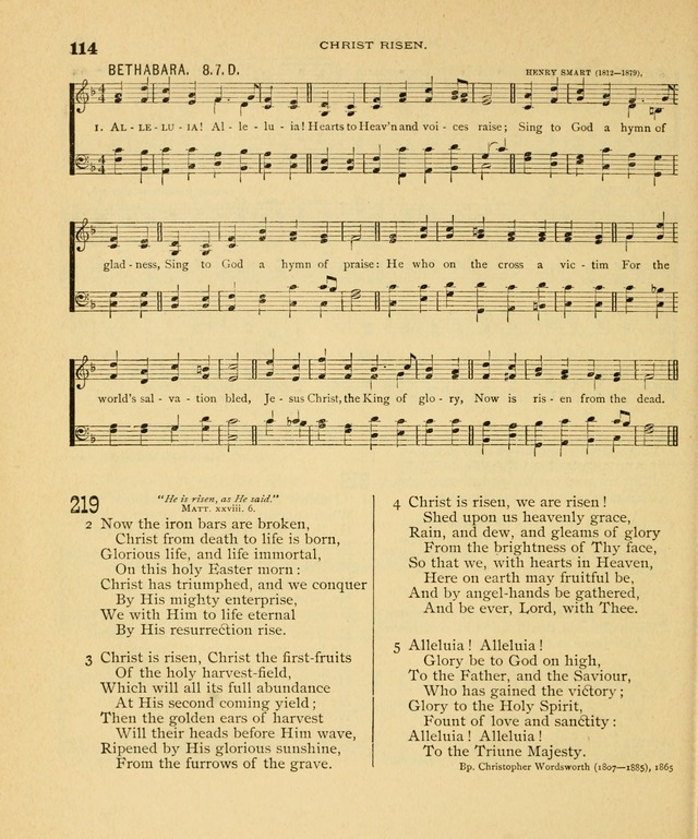 Carmina Sanctorum, a selection of hymns and songs of praise