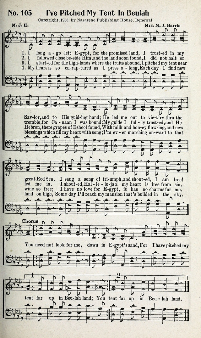 Calvary Songs: A Choice Collection of Gospel Songs, both Old and New page 106