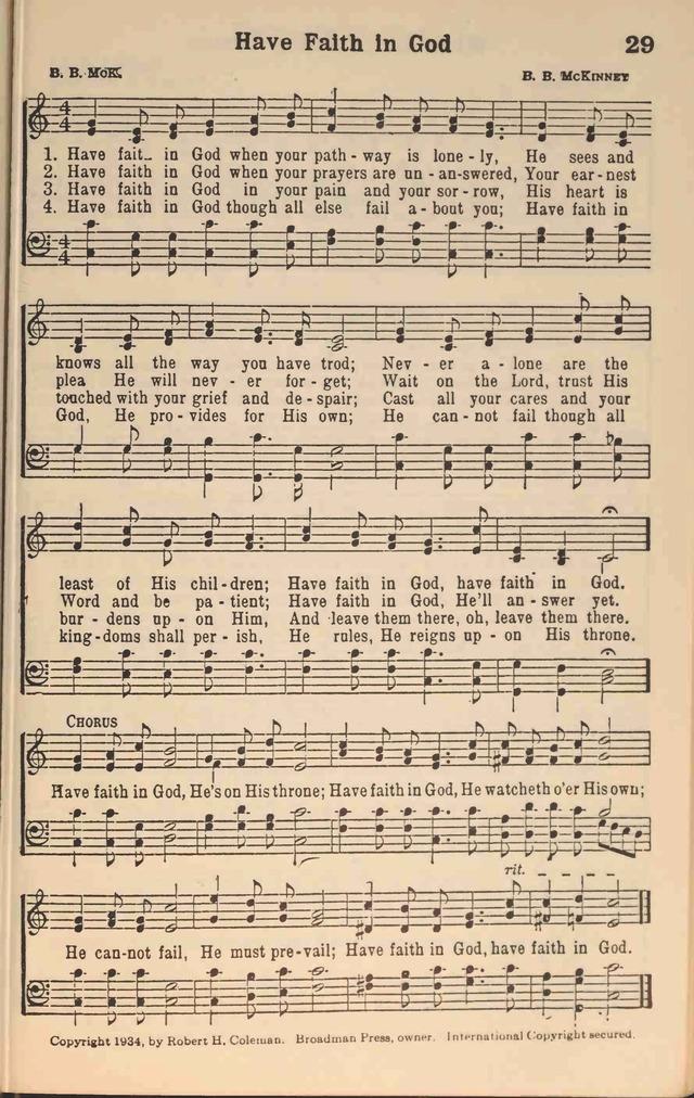 Songs about having faith in god