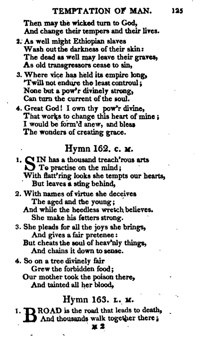 A Choice Selection of Evangelical Hymns, from various authors: for the use of the English Evangelical Lutheran Church in New York page 125