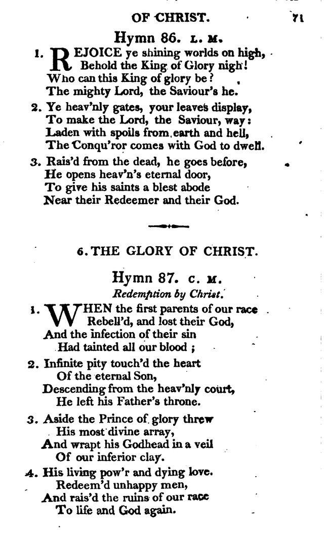 A Choice Selection of Evangelical Hymns, from various authors: for the use of the English Evangelical Lutheran Church in New York page 71