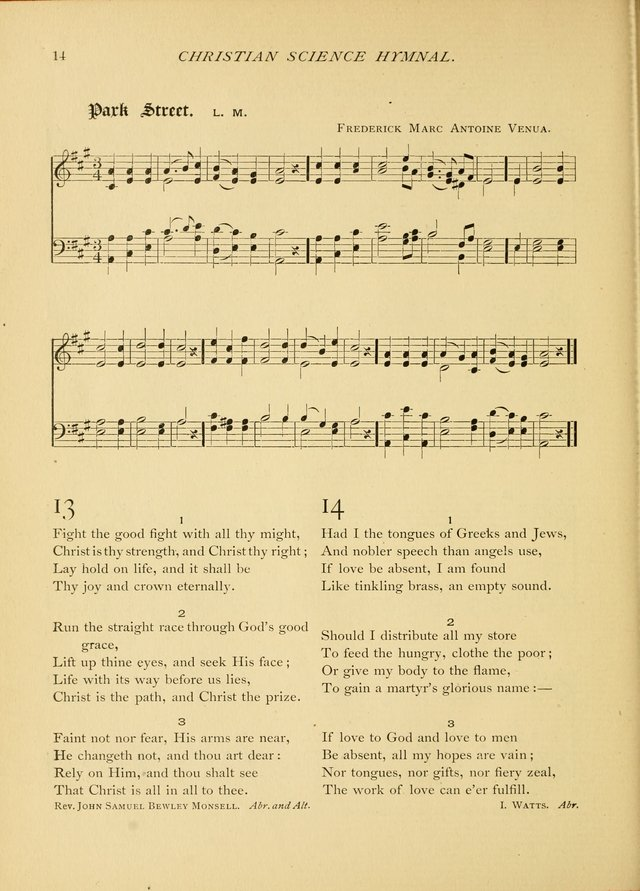 Christian Science Hymnal: a selection of spiritual songs page 14
