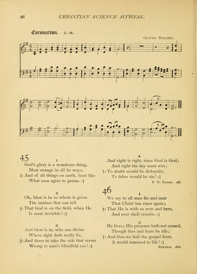 Christian Science Hymnal: a selection of spiritual songs page 46