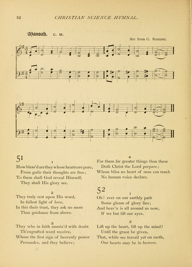 Christian Science Hymnal: a selection of spiritual songs page 52