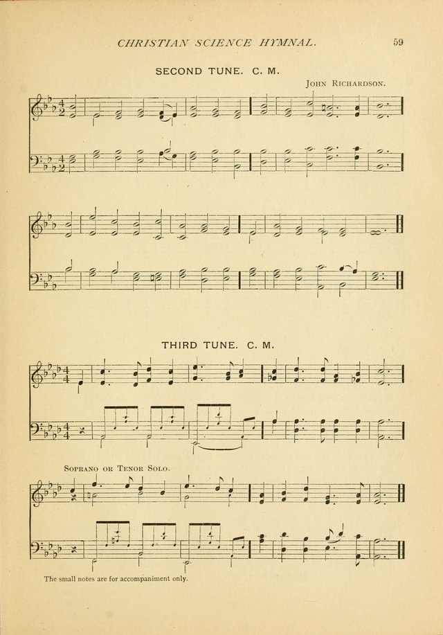 Christian Science Hymnal: a selection of spiritual songs page 59
