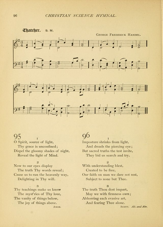 Christian Science Hymnal: a selection of spiritual songs page 96