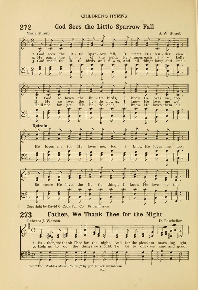 The Church School Hymnal page 236