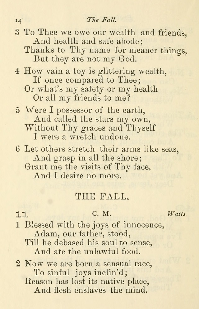 A Choice Selection of Hymns and Spiritual Songs for the use of the Baptist Church and all lovers of song page 17
