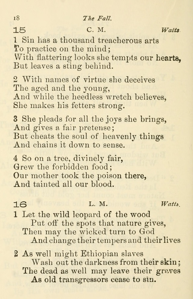 A Choice Selection of Hymns and Spiritual Songs for the use