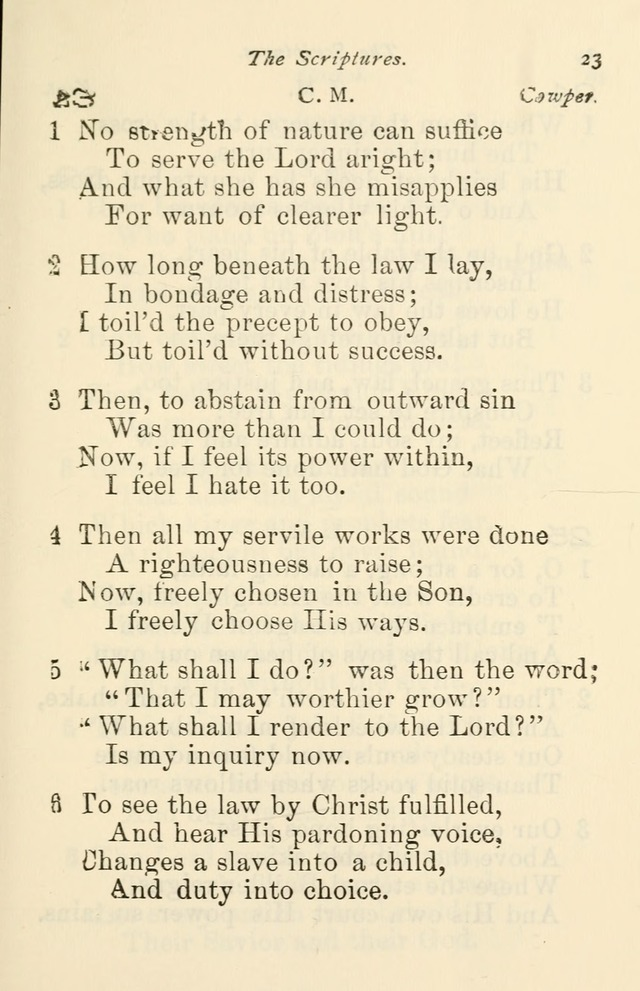 A Choice Selection of Hymns and Spiritual Songs for the use of the Baptist Church and all lovers of song page 26