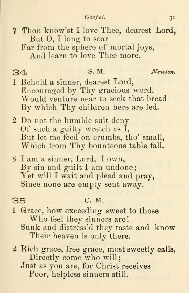 A Choice Selection of Hymns and Spiritual Songs for the use of the ...