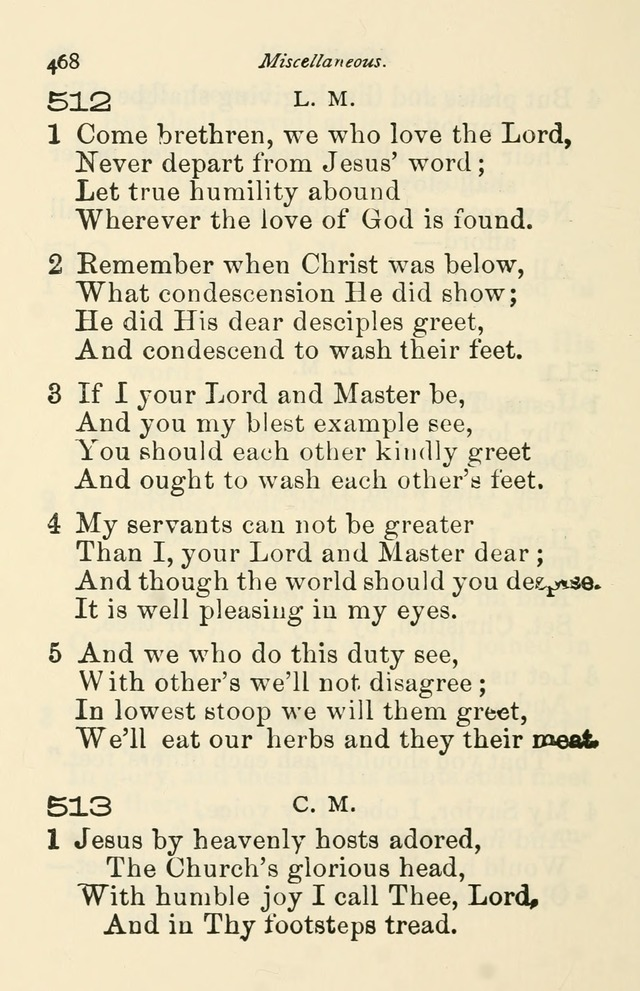 A Choice Selection of Hymns and Spiritual Songs for the use of the Baptist Church and all lovers of song page 471