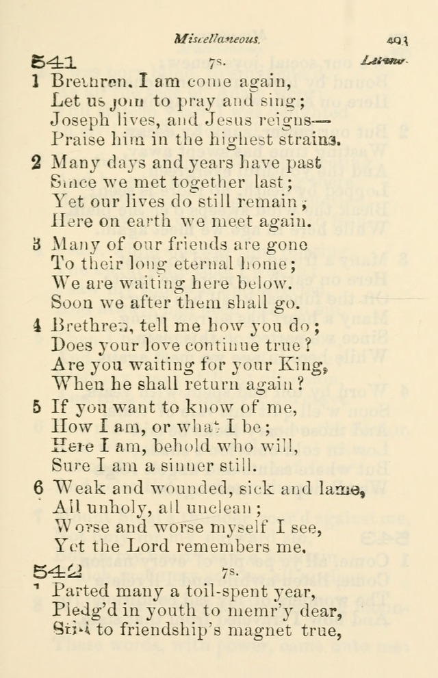 A Choice Selection of Hymns and Spiritual Songs for the use of the Baptist Church and all lovers of song page 496
