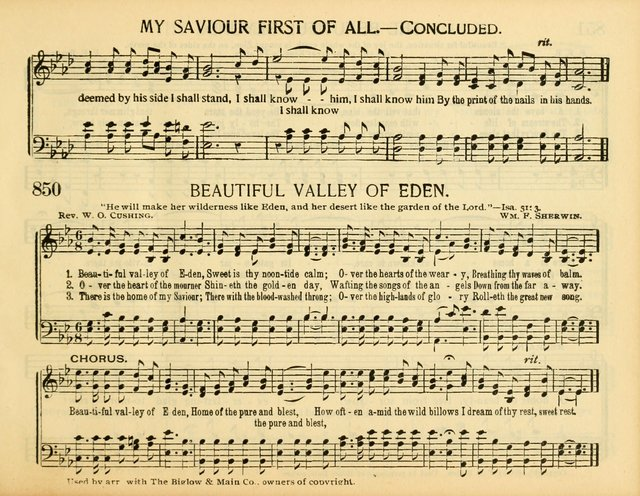 Christ in Song: for all religious services nearly one thousand best gospel hymns, new and old with responsive scripture readings (Rev. and Enl.) page 475
