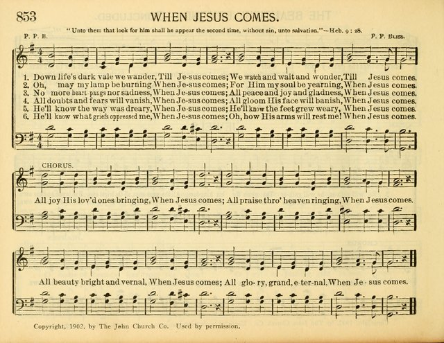 Christ in Song: for all religious services nearly one thousand best gospel hymns, new and old with responsive scripture readings (Rev. and Enl.) page 478
