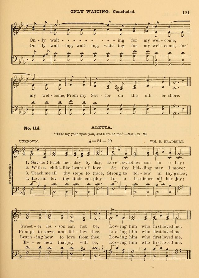 The Christian Sunday School Hymnal: a compilation of choice hymns and tunes for Sunday schools page 121