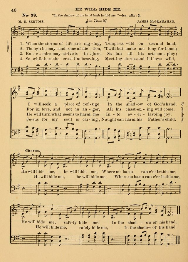The Christian Sunday School Hymnal: a compilation of choice hymns and tunes for Sunday schools page 40