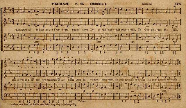 The Choir: or, Union collection of church music. Consisting of a great variety of psalm and hymn tunes, anthems, &c. original and selected. Including many beautiful subjects from the works.. (2nd ed.) page 175