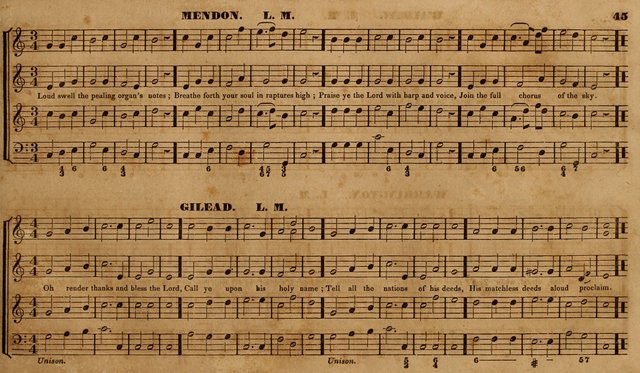 The Choir: or, Union collection of church music. Consisting of a great variety of psalm and hymn tunes, anthems, &c. original and selected. Including many beautiful subjects from the works.. (2nd ed.) page 45